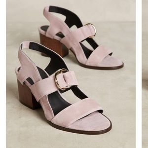 Anthropologie Purple Heels Size 9 New
